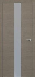 Фото -   Межкомнатная дверь Zadoor ПО ALU H4 Окаша Грей   | фото в интерьере