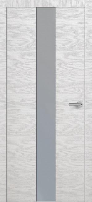 Фото -   Межкомнатная дверь Zadoor ПО ALU H4 Окаша Сильвер   | фото в интерьере