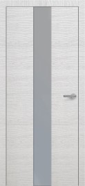 Фото -   Межкомнатная дверь Zadoor ПО H4 Окаша Сильвер   | фото в интерьере