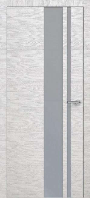 Фото -   Межкомнатная дверь Zadoor ПО ALU H5 Окаша Сильвер   | фото в интерьере