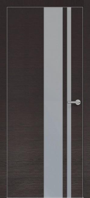 Фото -   Межкомнатная дверь Zadoor ПО ALU H5 Окаша Венге   | фото в интерьере