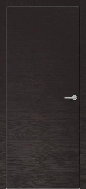 Фото -   Межкомнатная дверь Zadoor ПГ ALU H7 Окаша Венге   | фото в интерьере