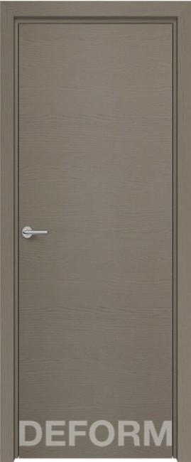 Фото -   Межкомнатная дверь Deform H7 дуб французский серый, ПГ   | фото в интерьере