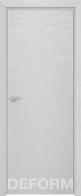 Фото -   Межкомнатная дверь Deform H7 дуб французский сильвер, ПГ   | фото в интерьере