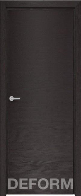 Фото -   Межкомнатная дверь Deform H7 дуб французский темный, ПГ   | фото в интерьере