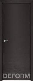 Фото -   Межкомнатная дверь Deform H7 дуб французский темный, ПГ     фото в интерьере