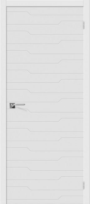 """Межкомнатная дверь """"Граффити-1"""", пг, белый"""