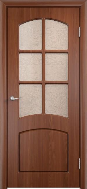 """Фото -   Межкомнатная дверь ПВХ """"Кэролл"""", по, итальянский орех     фото в интерьере"""