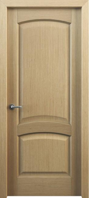 Фото -   Межкомнатная дверь Классик 104, пг, дуб   | фото в интерьере