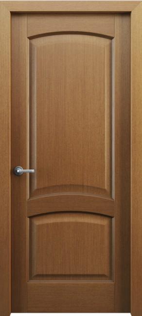 Фото -   Межкомнатная дверь Классик 104, пг, орех     фото в интерьере