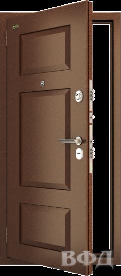 Входная металлическая дверь Комфорт 3, медный антик