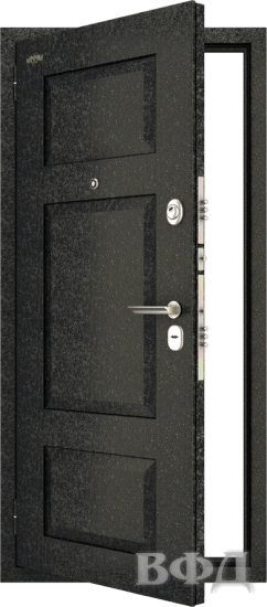 Входная металлическая дверь Комфорт 3, черный крокодил