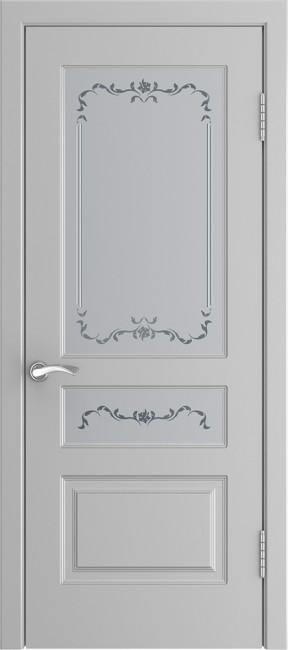 """Фото -   Межкомнатная дверь """"L-2"""", по, эмаль манхеттен     фото в интерьере"""