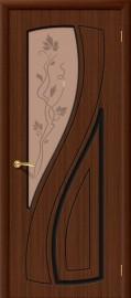 """Межкомнатная дверь """"Лагуна"""", по, шоколад"""