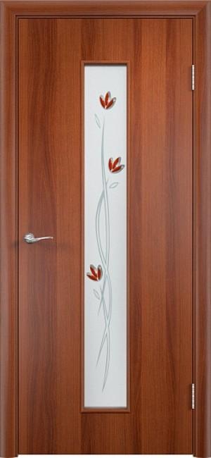 """Фото -   Межкомнатная дверь """"Тифани"""", по, итальянский орех     фото в интерьере"""