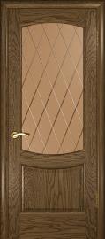 """Межкомнатная дверь """"Лаура 2"""", по, мореный дуб светлый"""