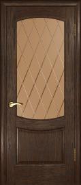 """Межкомнатная дверь """"Лаура 2"""", по, мореный дуб темный"""