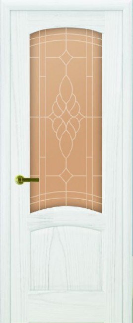 """Межкомнатная дверь """"Лаура"""", по, дуб белая эмаль"""