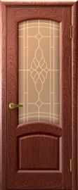 """Межкомнатная дверь """"Лаура"""", по, красное дерево"""