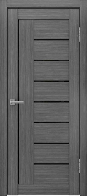 """Фото -   Межкомнатная дверь """"ЛУ-17"""", черный лакобель, серый     фото в интерьере"""