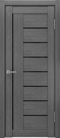 "Межкомнатная дверь ""ЛУ-17"", черный лакобель, серый"