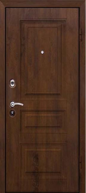Фото -   Стальная дверь М-9, орех     фото в интерьере