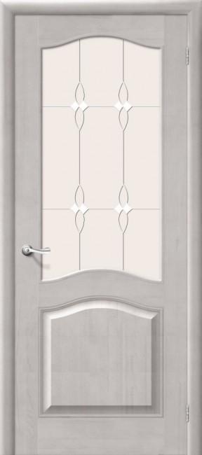 Межкомнатная дверь М 7, по, белый воск