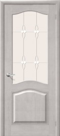 Фото -   Межкомнатная дверь М 7, по, белый воск   | фото в интерьере