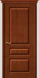 Фото -   Межкомнатная дверь М 5, пг, светлый лак   | фото в интерьере