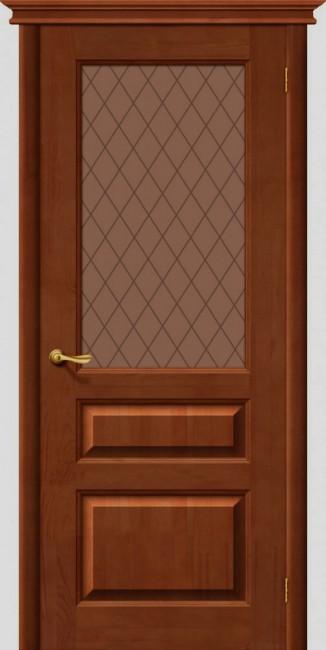 Межкомнатная дверь М 5, по, светлый лак