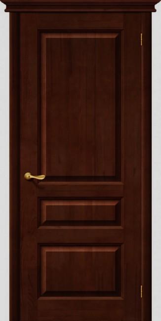 Фото -   Межкомнатная дверь М 5, пг, темный лак   | фото в интерьере