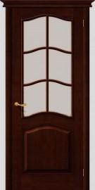 Фото -   Межкомнатная дверь М 7, по, темный лак   | фото в интерьере