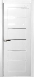 Межкомнатная дверь Мирелла, пг, белый глянец