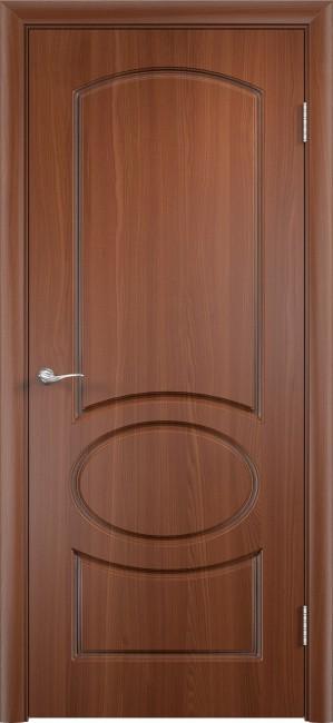 """Фото -   Межкомнатная дверь ПВХ """"Неаполь"""", пг, итальянский орех     фото в интерьере"""