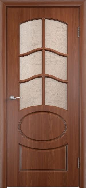 """Межкомнатная дверь ПВХ """"Неаполь"""", по, итальянский орех"""