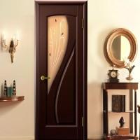 Нестандартные двери шпон