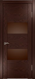 """Фото -   Межкомнатная дверь """"Орион 2"""", по, мореный дуб темный     фото в интерьере"""