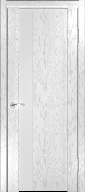 """Фото -   Межкомнатная дверь """"Орион 3"""", по, дуб белая эмаль     фото в интерьере"""