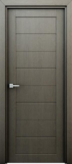 """Фото -   Межкомнатная дверь """"Орион"""", пг, серый     фото в интерьере"""