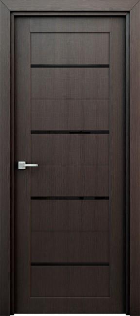 """Фото -   Межкомнатная дверь """"Орион"""", по, венге     фото в интерьере"""