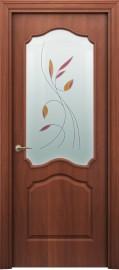 """Межкомнатная дверь """"Палитра 62-4"""", по, итальянский орех"""