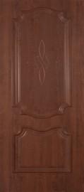 """Межкомнатная дверь ПВХ """"Пальмира"""", пг, темный орех"""