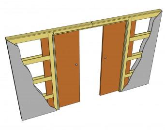 Фото -   Пенал для двух раздвижных дверей   | фото в интерьере