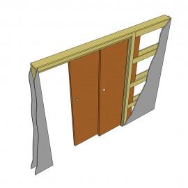 Фото -   Пенал для двух раздвижных дверей телескопический   | фото в интерьере
