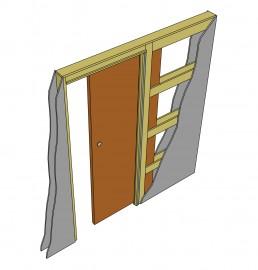 Фото -   Пенал для одной раздвижной двери   | фото в интерьере