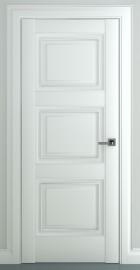 Фото -   Межкомнатная дверь Гранд В1, пг, матовый белый   | фото в интерьере