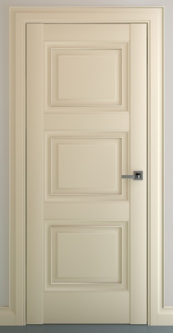 Фото -   Межкомнатная дверь Гранд В1, пг, матовый крем   | фото в интерьере
