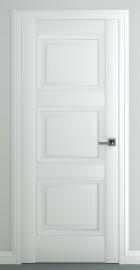 Фото -   Межкомнатная дверь Гранд В3, пг, матовый белый   | фото в интерьере