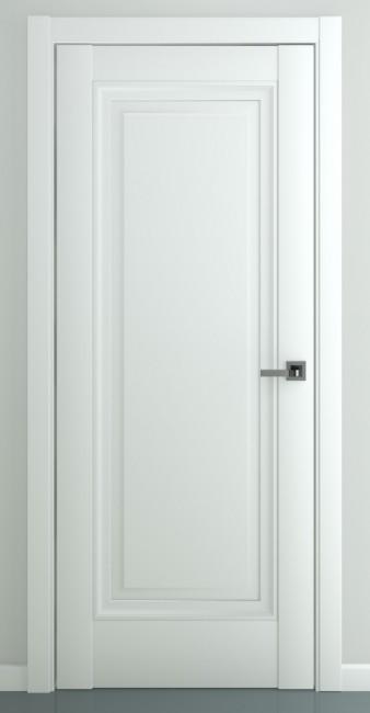 Фото -   Межкомнатная дверь Неаполь В2, пг, матовый белый   | фото в интерьере