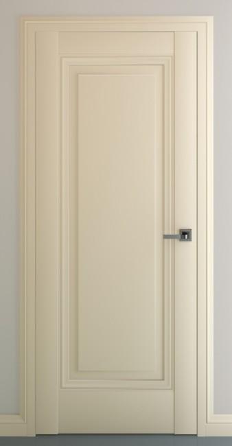 Фото -   Межкомнатная дверь Неаполь В3, пг, матовый крем   | фото в интерьере